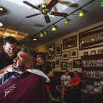 Groom at the barber